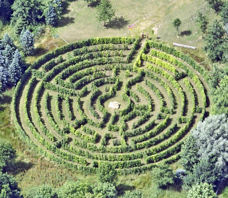 Ein außergewöhnliches Heckenlabyrinth in Deutschland